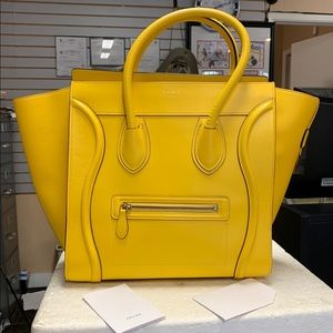 Celine Smooth Leather Mini Luggage Tote